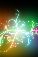 Preview iPhone wallpaper Colorful light leaves