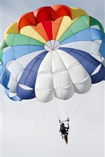 Preview iPhone wallpaper Colorful parachute