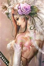 Fantasia menina tattoo