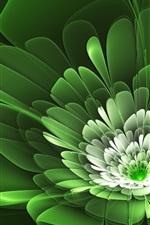 Pétalas de flores são verdes