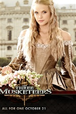 Preview iPhone wallpaper Gabriella Wilde in The Three Musketeers