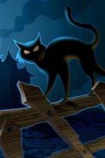 Preview iPhone wallpaper Halloween cat
