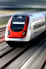 Preview iPhone wallpaper High-speed train