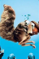 Preview iPhone wallpaper Ice Age squirrel acorn piranhas