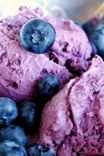 Preview iPhone wallpaper Ice cream frozen blueberries