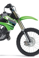 Preview iPhone wallpaper Kawasaki motocross KX85 2012