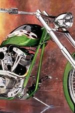 Preview iPhone wallpaper Motorcycle custom green super nice