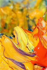 Preview iPhone wallpaper Paint color close-up form