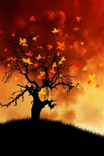 Preview iPhone wallpaper Painting autumn wind