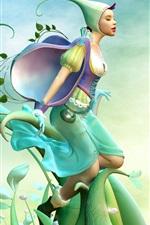 Vorschau des iPhone Hintergrundbilder Spring Fairy