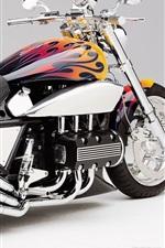 iPhone обои Три выхлопной трубы мотоцикла