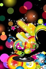 Preview iPhone wallpaper Vector music beat