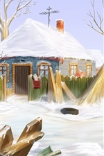 Preview iPhone wallpaper Winter home of the Snow
