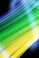 Abstract green and yellow lines