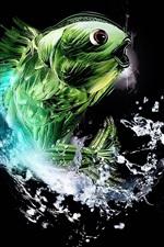 Abstract green fish