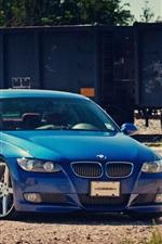 BMW 파란색 자동차