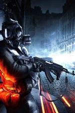 Preview iPhone wallpaper Battlefield 3 city street