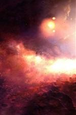 Bela do espaço vermelho