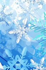 Preview iPhone wallpaper Blue Snowflake Christmas