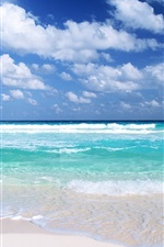 Preview iPhone wallpaper Blue beach views