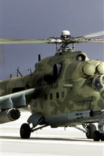 Preview iPhone wallpaper Camouflage military helicopter