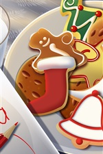 Preview iPhone wallpaper Christmas dessert