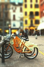 Preview iPhone wallpaper City street bicycle parking
