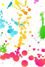 Preview iPhone wallpaper Colorful abstract graffiti paint