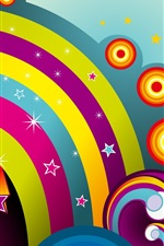 Preview iPhone wallpaper Colorful circle vector