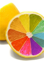 Limones colorido close-up