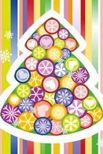 iPhone fondos de pantalla Colorido vector del árbol de Navidad