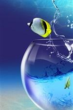 iPhone обои Творческое воображение тропических рыб