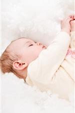 Preview iPhone wallpaper Cute baby asleep