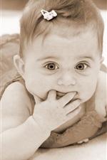 미리보기 iPhone 배경 화면 귀여운 아기 공주