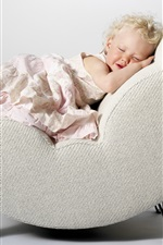Preview iPhone wallpaper Cute little princess asleep