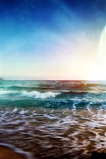 Preview iPhone wallpaper Dream Sunrise at sea