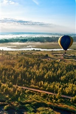 Preview iPhone wallpaper Forest road sky balloon