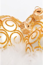 Preview iPhone wallpaper Gold decorative Christmas ball