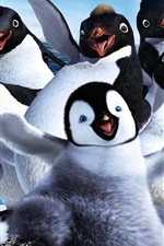 Preview iPhone wallpaper Happy Feet Two