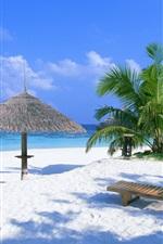 미리보기 iPhone 배경 화면 휴일 해변 의자 및 관