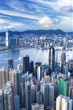 홍콩 스카이 스크래퍼 대도시