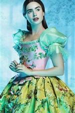 iPhone壁紙のプレビュー グリム兄弟のリリーコリンズ:白雪姫