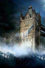 iPhone fondos de pantalla London Tower Bridge en las imágenes creativas de agua