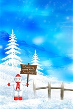 미리보기 iPhone 배경 화면 메리 크리스마스 아름다운 눈 풍경