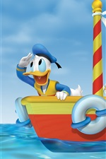 Preview iPhone wallpaper Mickey adventure at sea