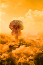 Preview iPhone wallpaper Nuclear explosion mushroom cloud