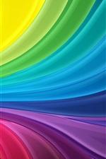 iPhone обои Радуга полосы абстрактные волны