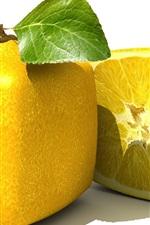 사각형 레몬