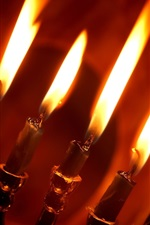 Preview iPhone wallpaper Red candlelight