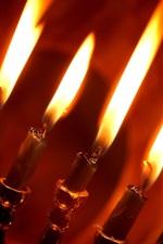 미리보기 iPhone 배경 화면 레드 촛불